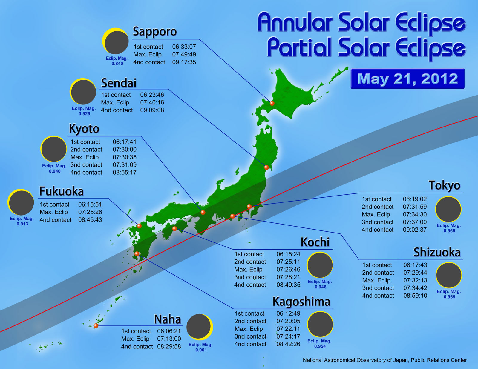 Partial Solar Eclipse Map.Annular Solar Eclipse On May 21 2012 About